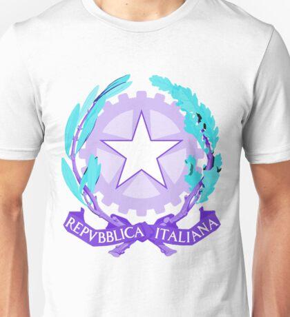 Italy PURPLE | Europe Stickers | SteezeFactory.com Unisex T-Shirt