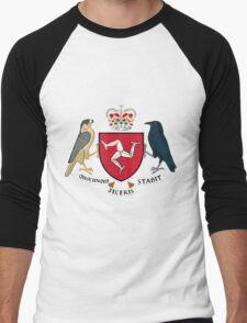 Isle of Man | Europe Stickers | SteezeFactory.com Men's Baseball ¾ T-Shirt