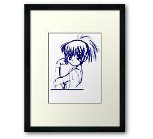 SHOUJO MANGA ANIME GIRL  Framed Print