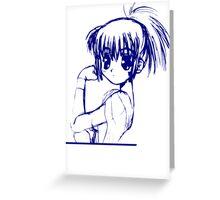 SHOUJO MANGA ANIME GIRL  Greeting Card