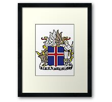 Iceland | Europe Stickers | SteezeFactory.com Framed Print