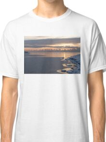 Fresh Snow Lakeside Morning Classic T-Shirt