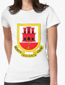 Gibraltar BRIGHT | Europe Stickers | SteezeFactory.com Womens Fitted T-Shirt