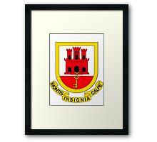 Gibraltar BRIGHT | Europe Stickers | SteezeFactory.com Framed Print