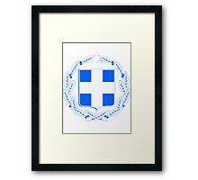 Greece | Europe Stickers | SteezeFactory.com Framed Print