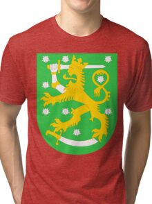 Finland BRIGHT GREEN | Europe Stickers | SteezeFactory.com Tri-blend T-Shirt