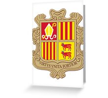 Andorra   Europe Stickers   SteezeFactory.com Greeting Card