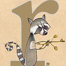 R is for RACCOON by busymockingbird