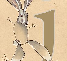 J is for JACKRABBIT by busymockingbird