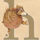 H is for HEDGEHOG by busymockingbird