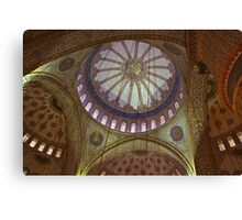 Looking Up in the Blue Mosque Canvas Print