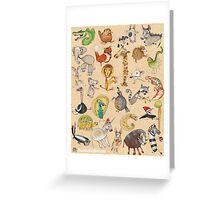 ABC Animals Greeting Card