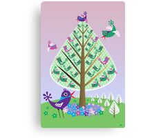 The Flutter Tree Canvas Print