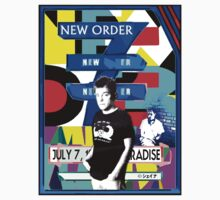 New Order 1983 Gig flyer shirt by Shaina Karasik