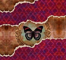 butterfly powered steampunk pink damask iphone or ipod case by creativemonsoon