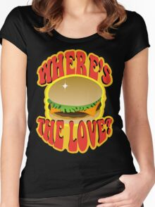Where's the love? Women's Fitted Scoop T-Shirt