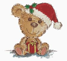 Teddy bear at Christmas by Toru Sanogawa
