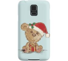 Teddy bear at Christmas Samsung Galaxy Case/Skin