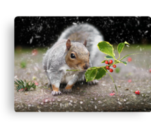The Christmas Squirrel Canvas Print