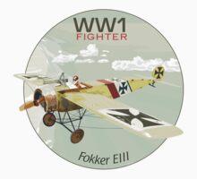 Fokker E111 - WW1 Fighter by contourcreative