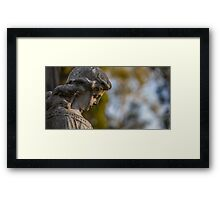 Statue Is Blue Framed Print