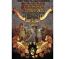Steam Punk Robot Boxing Photographic Print