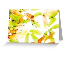 Leaves Splash Abstract 3 Greeting Card