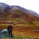 Camping on Ben Nevis. by littleredbird