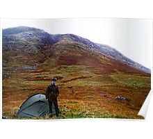 Camping on Ben Nevis. Poster
