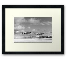 Winter ops: Spitfires, black and white version Framed Print