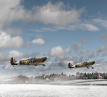 Winter ops: Spitfires by Gary Eason + Flight Artworks