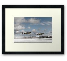 Winter ops: Spitfires Framed Print