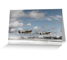 Winter ops: Spitfires Greeting Card