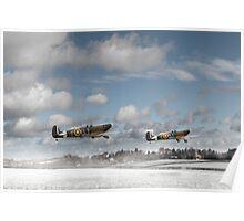 Winter ops: Spitfires Poster