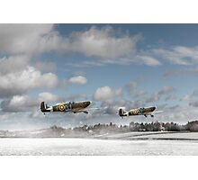 Winter ops: Spitfires Photographic Print