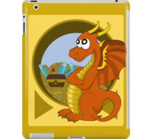 Cartoon orange dragon  iPad Case/Skin