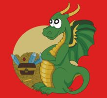 Cartoon green dragon  One Piece - Short Sleeve