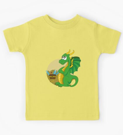 Cartoon green dragon  Kids Tee