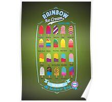 RAINBOW Ice Cream Poster