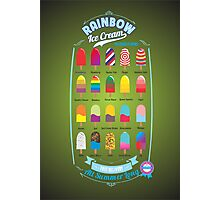 RAINBOW Ice Cream Photographic Print