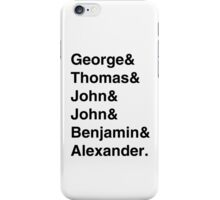 Founding Fathers iPhone Case/Skin