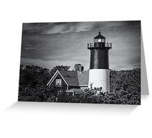 Nauset Lighthouse BW Greeting Card