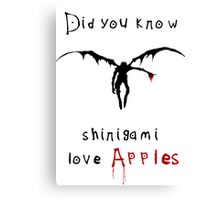 Shinigami love apples Canvas Print