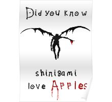 Shinigami love apples Poster