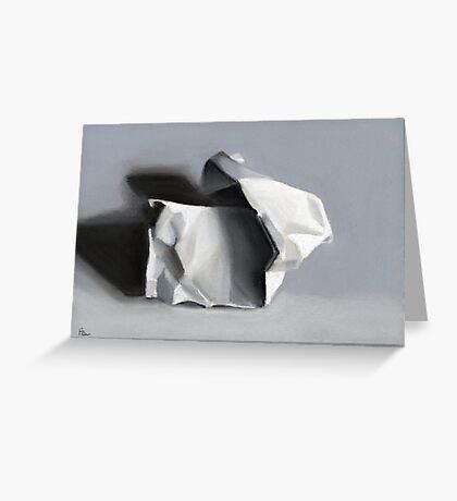 Crumpled Paper Sculpture Greeting Card