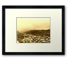 Moclin in the Mist Framed Print