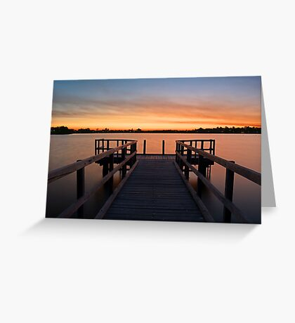 Shelley Jetty Perth Western Australia. Greeting Card