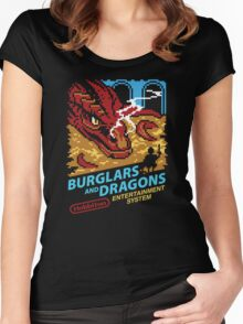 Burglars and Dragons Women's Fitted Scoop T-Shirt