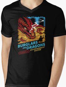 Burglars and Dragons Mens V-Neck T-Shirt