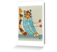 Tiger in Stripes Greeting Card
